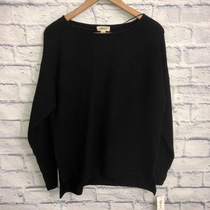 NWT! Style & Co Black Boatneck Sweater
